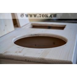 Toilettes WC sèches de fabrication suisse disponibles chez 7ok