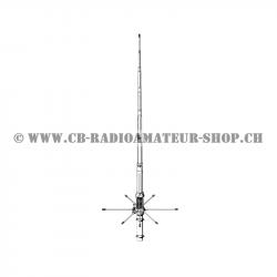 Antenne Sirio GP 827 avec 8 radians plan de sol