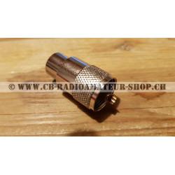 Prise connecteur d'antenne pour câble coaxial de type RG 213 à faible perte