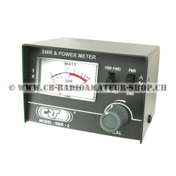 Appareil de mesure pour calculer le taux d'ondes stationnaires TOS ou Standing Wave Ratio SWR sur une CB cibi