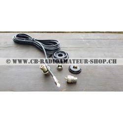 Sirio pied d'antenne fixe pour fixation antenne cibi ou radioamateur sur une voiture
