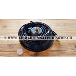 Embase magnétique de voiture pour antennes mobiles cb radioamateur