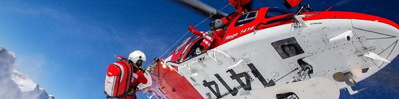 Secours alpin héliporté Suisse France Italie